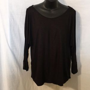 Juicy Couture Black Cold Shoulder Dolman Top